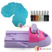 Nail Art Colors Polish Kit Stamper DIY Printer Machine