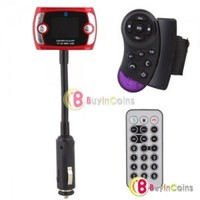 Car Bluetooth Steering Wheel FM Modulator Transmitter MP3 Player USB/TF/SD/MMC