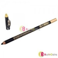 Black Waterproof Eyeliner Eyebrow Pencil with Sharpener