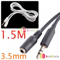 1.5M 3.5mm Ear Headphone Extension Stereo Cord Cable