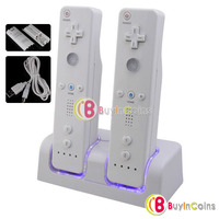 Remote Controller Charger Dock 2 Battery Packs for Wii