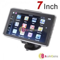 WinCE 6.0 + Flash 4GB 7 Inch HD Car GPS Navigation FM Mp3/4 FM + Calculator