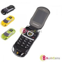 Flip Mini Mobile Phone Sports Car Dual Card Dual Standby FM GSM Cellphone