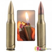 Bullet Shell Metal Refillable Copper Cigarette Lighter 2