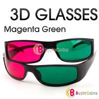 Magenta Green Cyan Plastic 3 D Dimensional 3D Glasses 1