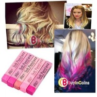 5 Colors Fashion Fast Non-toxic Temporary Pastel Hair Extension Dye Color Chalk 4