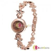 Crystal Fashion Quartz Woman Five-pointed Star Flower Bracelet Lady Wrist Watch