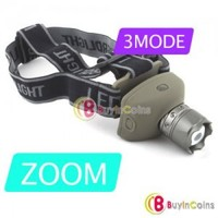 3 Mode CREE LED Q3 Zoom AAA Headlight Lamp Torch Light