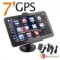 7 Inch 4GB LCD Car GPS Navigation MP3 FM Transmitter SD 2GB