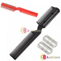 Pet Dog Cat Hair Trimmer Comb 2 Razor Grooming Comb New