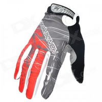 Motorcycle Racing Full-Finger Warmer Gloves - Red + Grey + Black (Size XL / Pair)
