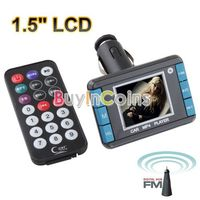 "1.5"" LCD Car MP3 MP4 Player Wireless FM Transmitter USB SD Slot w Remote Control"