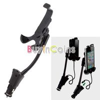 Universal Smartphone Car Holder Stand USB Charger Adapter for iPhone HTC Nokia 1