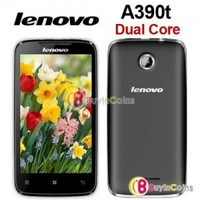 "4"" Lenovo A390t Dual Core MT6577 1GHz Android 4.0 Smartphone WCDMA Mobile Phone"