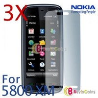 3 Clear LCD Screen Protector For Nokia 5230 5800 Xpress Music