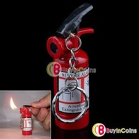 Refillable Fire Extinguisher Shape Butane Gas Lighter 1