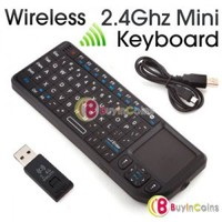 2.4GHz 2.4G Wireless Rii Mini PC PS3 Keyboard Touchpad