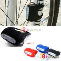 Silicone 5 LED Bicycle Bike Caution Safety Rear Lights