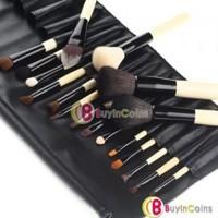 18 PCS Cosmetic Makeup Face Eyeshadow Brush Brushes Kit Set + Pouch Case