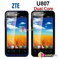 "4"" ZTE U807 Dual Core MT6517A 1GHz Android 4.0 Smartphone WIFI 3G Mobile Phone"