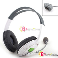 Headset Headphone with Microphone Mic Live Chat for Xbox 360 1