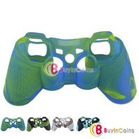 New Army Silicone Gel Handle Cover Case Skin for Xbox 360 Wireless Controller #2 2