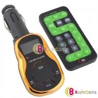 Golden Violin Design Car Mp3 Player FM Transmitter USB