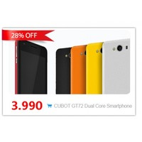 """4"""" CUBOT GT72 MTK6572 Dual Core 1.2GHz Android 4.2 Mobile Smartphone GPS Cameras"""