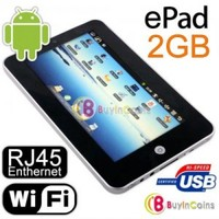 "ePad 7"" Touch MID Notebook Android USB Enthernet RJ45"