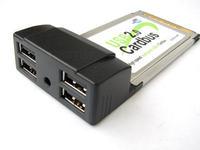 PCMCIA Cardbus to USB 2.0, 4port
