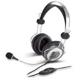 HEADPHONE HS-04SU, Headband stereo headset with noise-cancelling microphone,