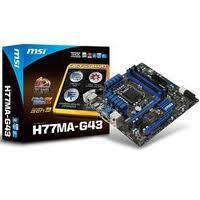 H77-G43, s.1155, Intel®H77 express chipset, DDR 3 - 32 GB Max, 4xSATA 3 GB/s, 2xSATA 6 GB/s, 10xUSB 2.0 ports (4 Rear / 6 Front),