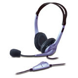 HEADPHONE HS-04S, small ear cup with noise-cancelling microphone, volume control