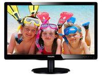 LED 18.5'' 196V4LSB, Slim Design, 5ms, Smart Contrast 10.000 000:1, DVI, Smart Control Lite, Black Glosy Finish