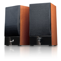 SP-HF360B Stereo Compact Wood speakers 10 W RMS, ultra rigid MDF board cabinet, master volume control