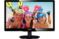 LED 23'' 236V4LAB, Slim Design, 5ms, Smart Contrast 10.000 000:1, DVI, Speakers, Smart Control Lite, Black Glosy Finish