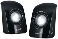 SP-U115 BLACK USB POWER, total RMS 1.5W, 50mm speaker drivers, volume control, black with glossy front cover