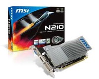 N210, 1GB DDR3, 64bit, DVI-1, D-SUB Output-1, HDMI-1, Display Output (Max Resolution) 2560x1600
