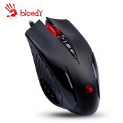 A4TECH MOUSE V5M BLOODY GAMING MOUSE USB BLACK WITH METAL FEET