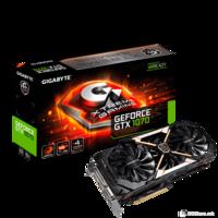 Gigabyte PCI-E 3.0, 8GB, GeForce GTX 1070 XTREME GAMING, Super OC, GDDR5, 256bit, WINDFORCE X3 Stack Fan, OC mode: 8328MHz/Gaming mode: 8168MHz, HDMIx3, DPx3, Dual-Link DVI-Dx1