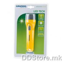 Grundig LED Flashlight Yellow 3LED 2x C excluded batteries