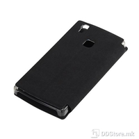 Flip Case for DOOGEE X5 Max Leather Black + Tempered Glass
