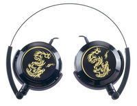 Genius GHP-400F, foldable light weight headphones(Black), gold plated 3.5mm connector