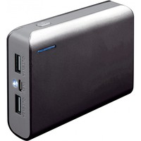 Power Bank Platinet Portable for Smartphone and Tablet 6000mAh Black/Grey w/Led Light and Micro USB