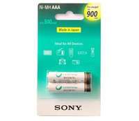 SONY NH-AAAB2GN, Precharged Rechargebale NiMh batteries 2pcs AAA, 900mAh