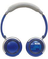ROADSTAR HED-120F/BL, FOLDABLE HEADPHONE, RUBBER CABLE, 3,5MM JACK, BLUE COLOUR, IN LINE VOLUME CONTROL, SUPER BASS TRANSDUCER