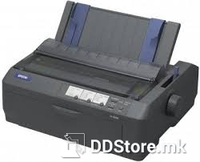 Epson FX-890A dot matrix printer, 18 pins, 80 column, original + 6 copies(pull tractor), 566 cps UHSD (10 cpi), ESC/P, IBM PPDS , 16 fonts, 8 BarCode fonts, single sheet and continuous, 4 paper paths, paper park, USB and Parallel I/F, 1 slot for opt.