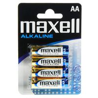 Maxell Alkaline LR6 AA batteries 4pcs pack Blister