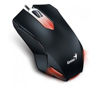 Genius Gaming Mouse X-G200, USB, Color: Black & Red, Resolution: 1000 DPI, Buttons x 3, Gamer Scroll, Optical Technology, Illuminated Design