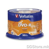 DVD-R 4.7GB 16x Verbatim 50pcs Spindle Wide Inkjet Printable